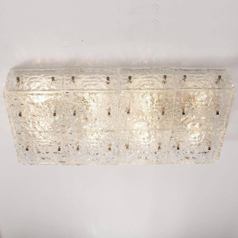Enameled Large Kalmar 'Dachstein' Glass Flush Mount Light or Sconce, 1970 For Sale