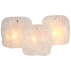 Large Kalmar Sconce Wall Lights Murano Glass by Kalmar, Austria, 1960s