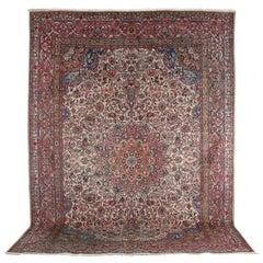 Large Kerman Wool Persian Carpet, C.1940