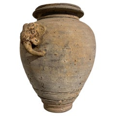 Large Khmer Pottery Vessel with Elephant Head and Tail, 16th Century, Cambodia