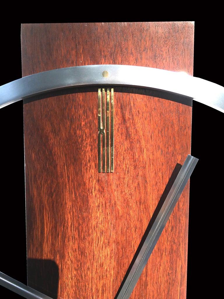 Scandinavian Modern Large Kienzle Style Wall Clock For Sale