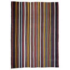 Large Kilim with Vertical Bands 'DK-114-53'