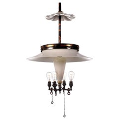 Large Klemm Opal Cluster Reflector Lamp