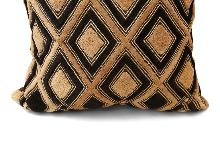Tribal Large Kuba Cloth Cushion For Sale
