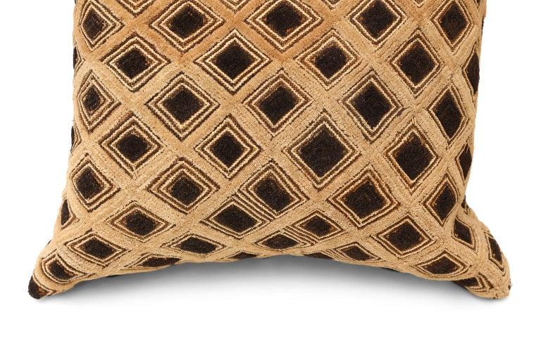 American Large Kuba Cloth Cushion For Sale
