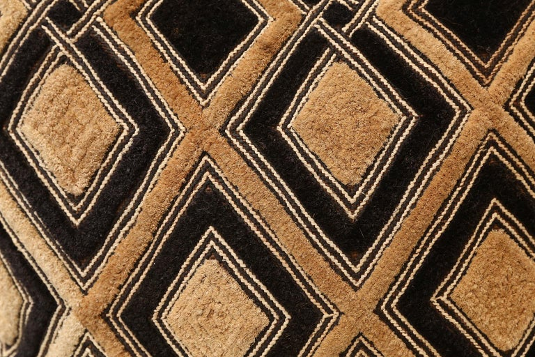 American Large Kuba Cloth Cushion For Sale