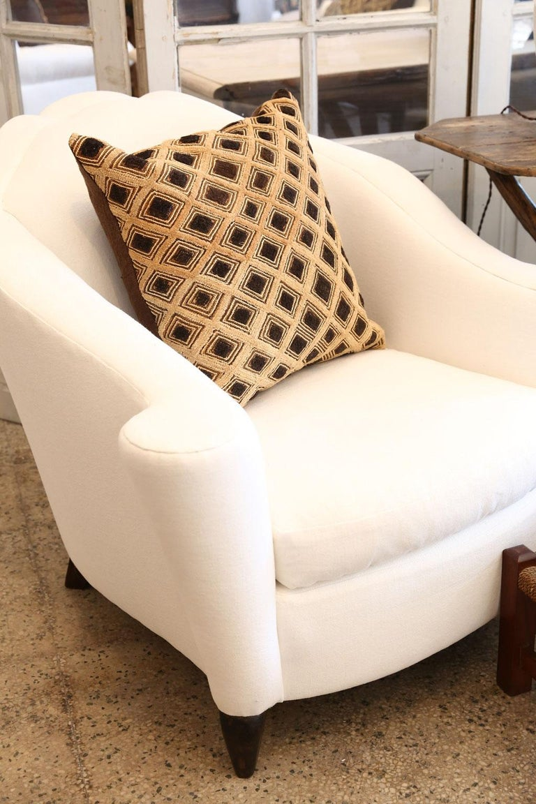 Large Kuba Cloth Cushion In Good Condition For Sale In Houston, TX