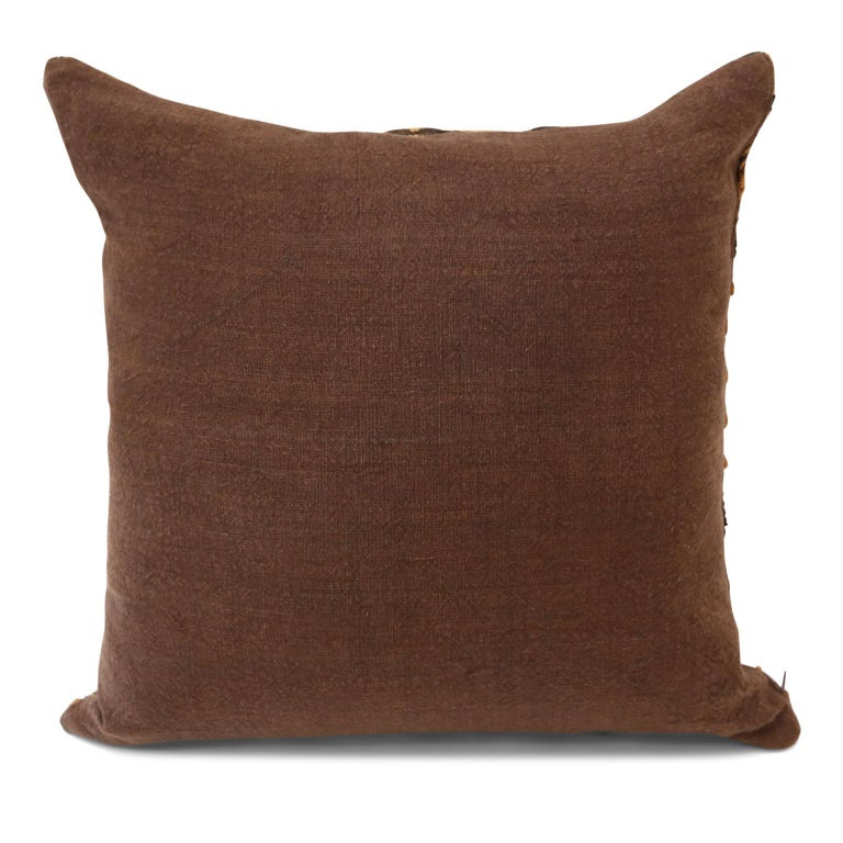 Large Kuba Cloth Cushion For Sale 1