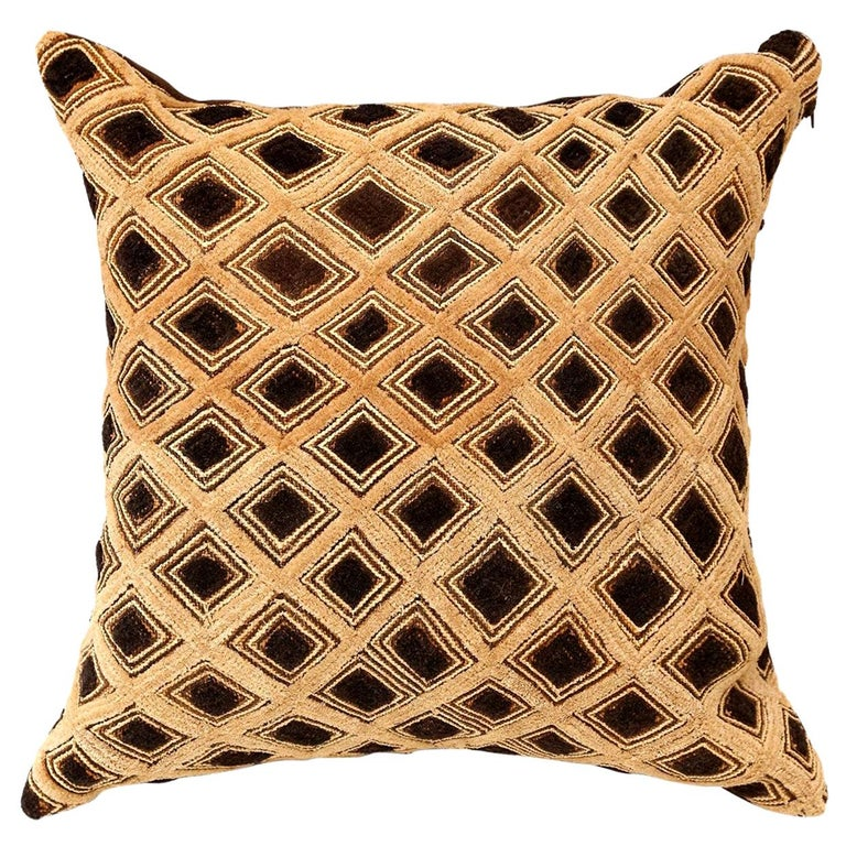 Large Kuba Cloth Cushion For Sale