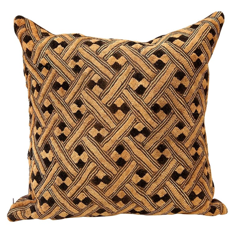 Large Kuba Cloth Cushion For Sale