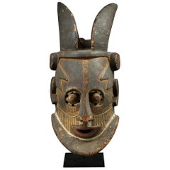 Large Kuba Helmet Mask Congo Early 20th Century