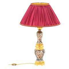 Large Lamp in Imari Porcelain and Gilt Bronze, circa 1880