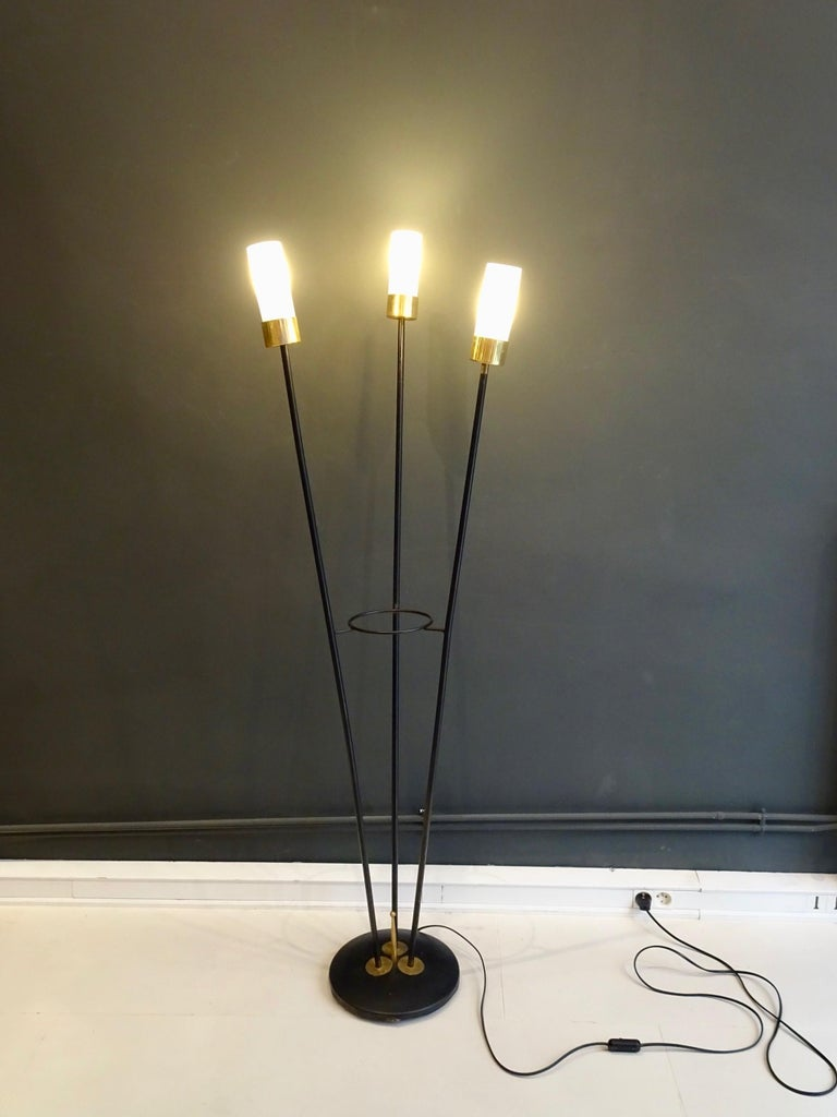 Modern Large Lamp with Three Italian Work Heads For Sale