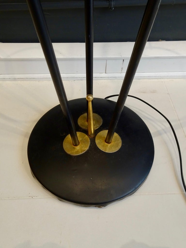 Large Lamp with Three Italian Work Heads In Good Condition For Sale In lyon, FR