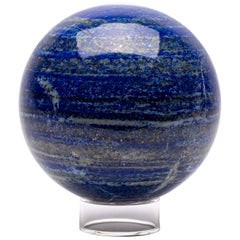 Large Lapis Lazuli Sphere from Afghanistan in Acrylic Base