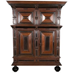 Large Late 17th Century Oak Dutch Kast or Armoire