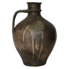 Large Late 18th Century Antique Portuguese Stoneware Jug