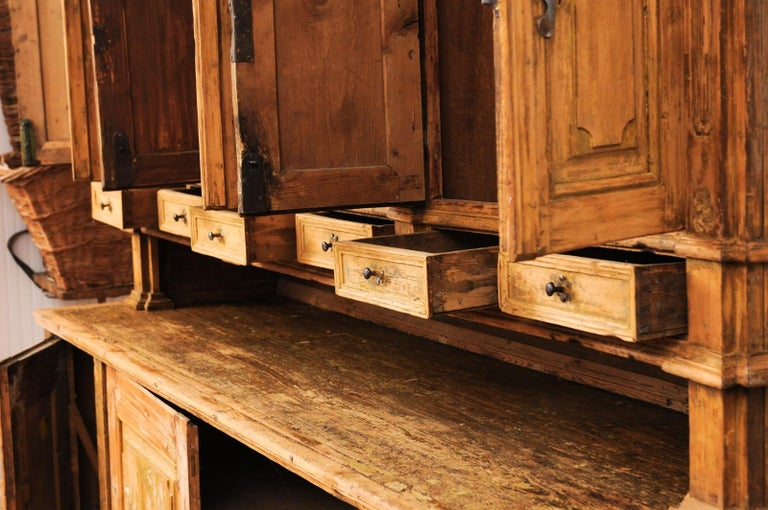 Large Late 18th Century French Buffet à Deux-Corps from a Monastery Near Avignon For Sale 5
