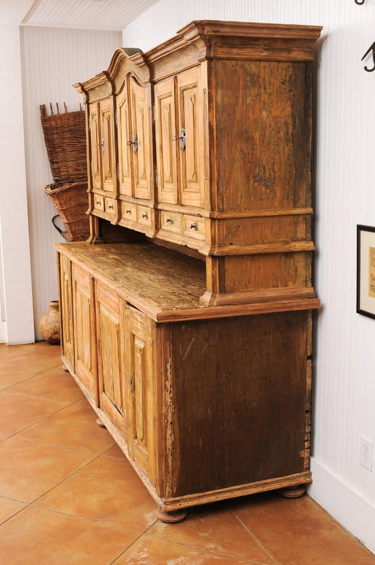 Large Late 18th Century French Buffet à Deux-Corps from a Monastery Near Avignon For Sale 9