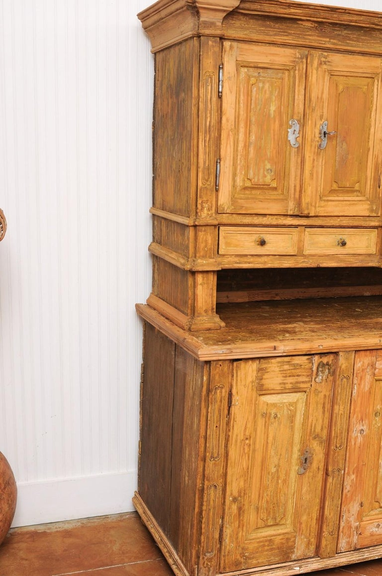 Large Late 18th Century French Buffet à Deux-Corps from a Monastery Near Avignon For Sale 10