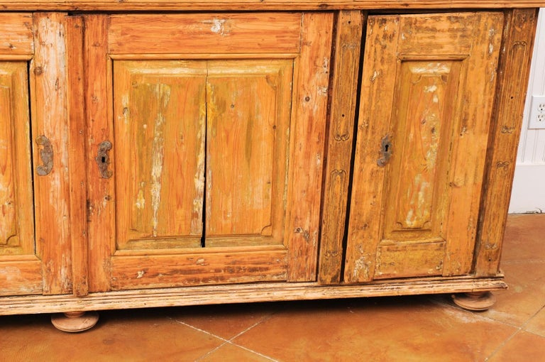 Large Late 18th Century French Buffet à Deux-Corps from a Monastery Near Avignon For Sale 12