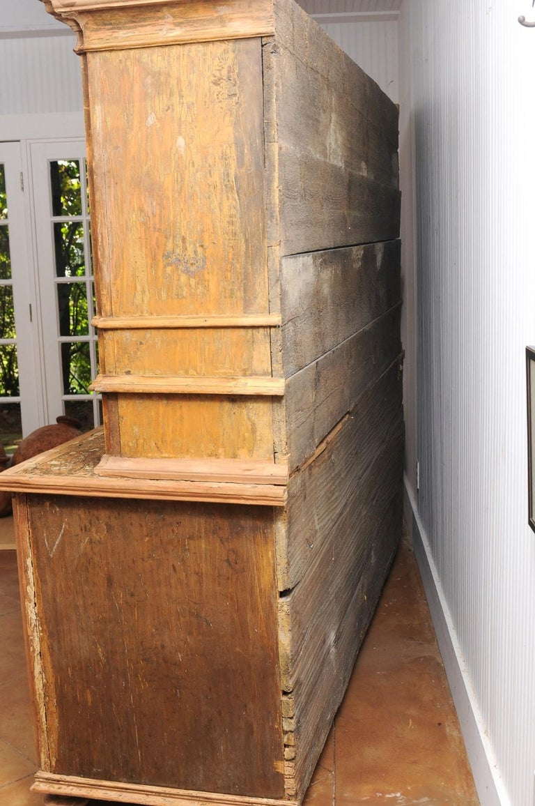 Large Late 18th Century French Buffet à Deux-Corps from a Monastery Near Avignon For Sale 13