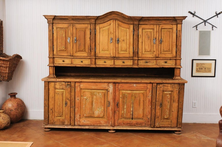 Rustic Large Late 18th Century French Buffet à Deux-Corps from a Monastery Near Avignon For Sale