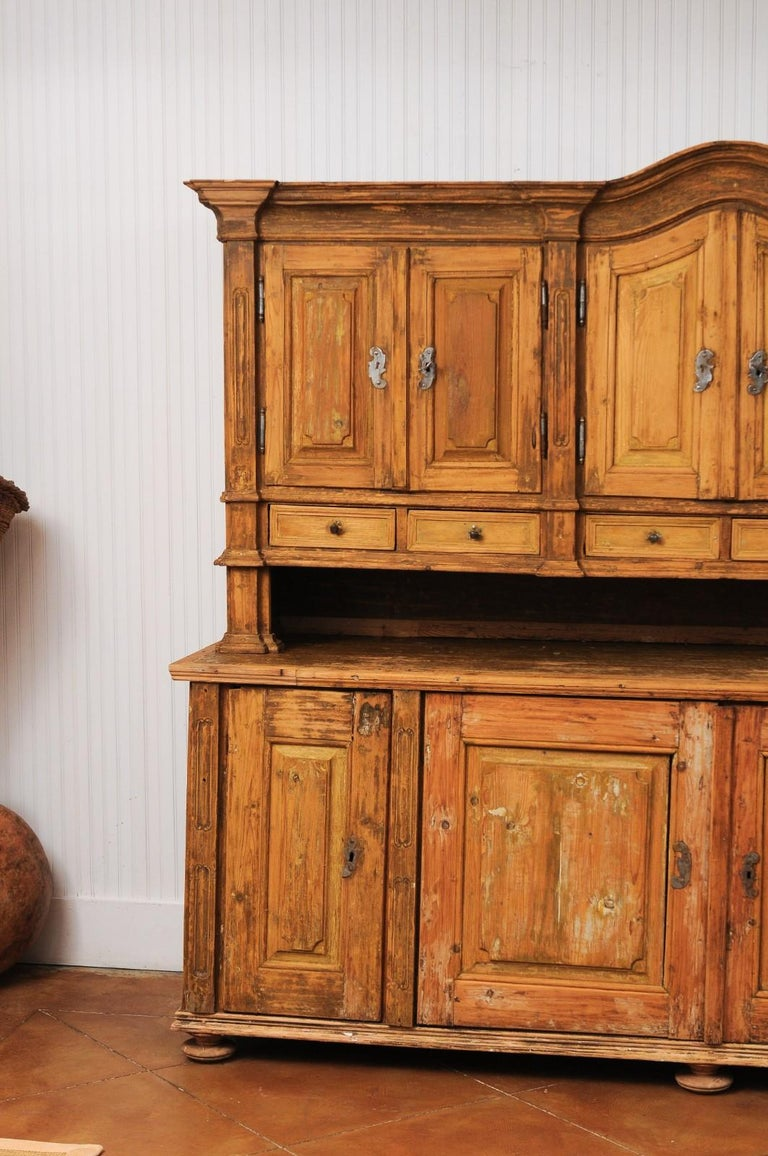Large Late 18th Century French Buffet à Deux-Corps from a Monastery Near Avignon In Good Condition For Sale In Atlanta, GA