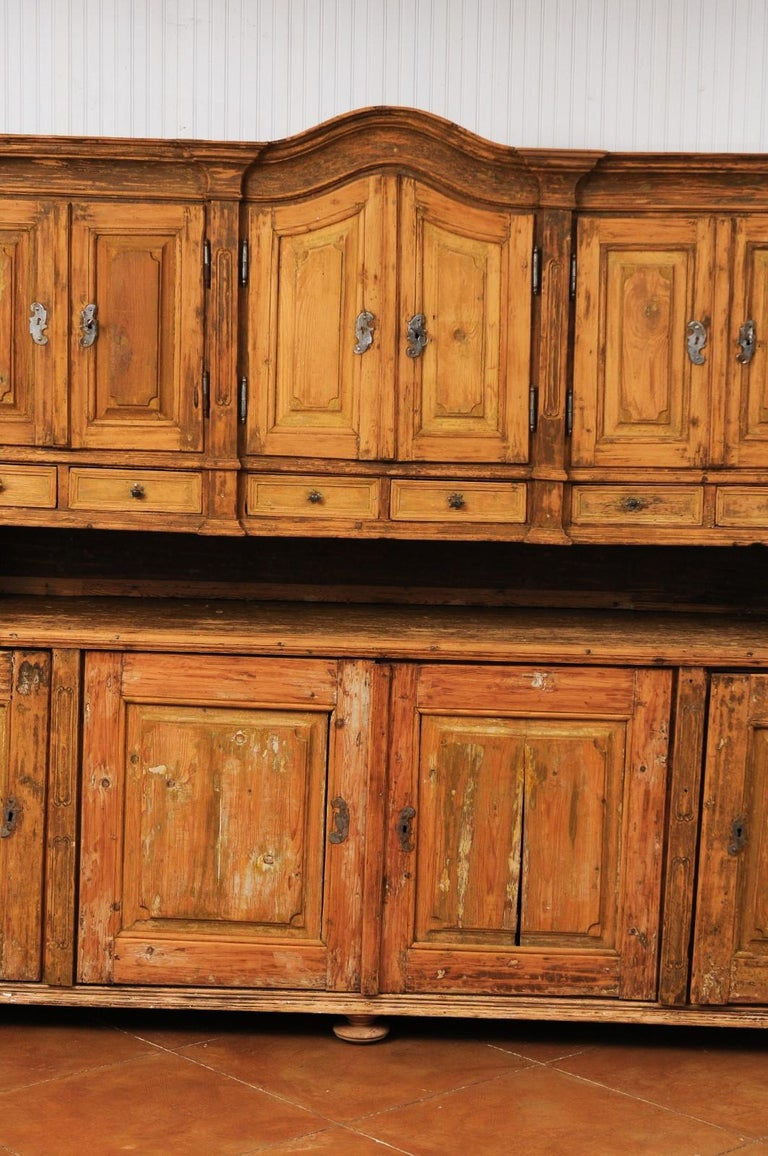 Fir Large Late 18th Century French Buffet à Deux-Corps from a Monastery Near Avignon For Sale