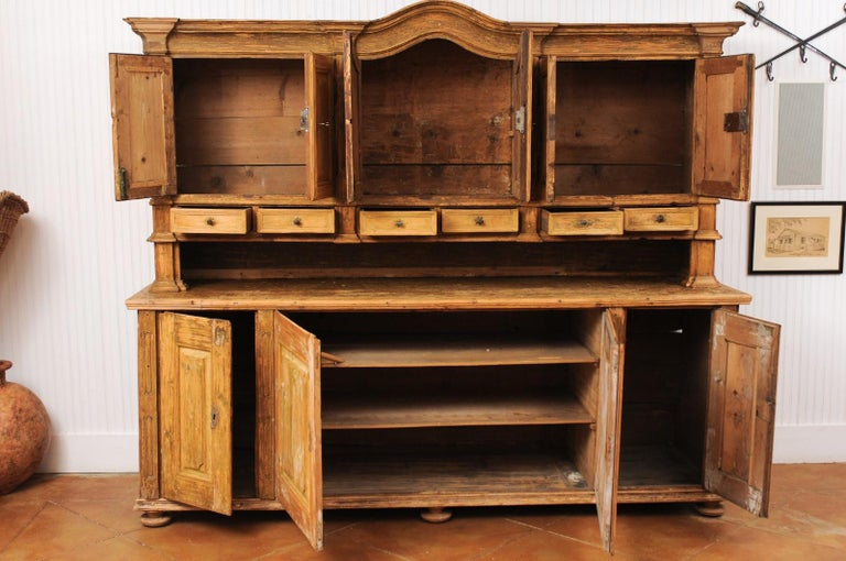 Large Late 18th Century French Buffet à Deux-Corps from a Monastery Near Avignon For Sale 2