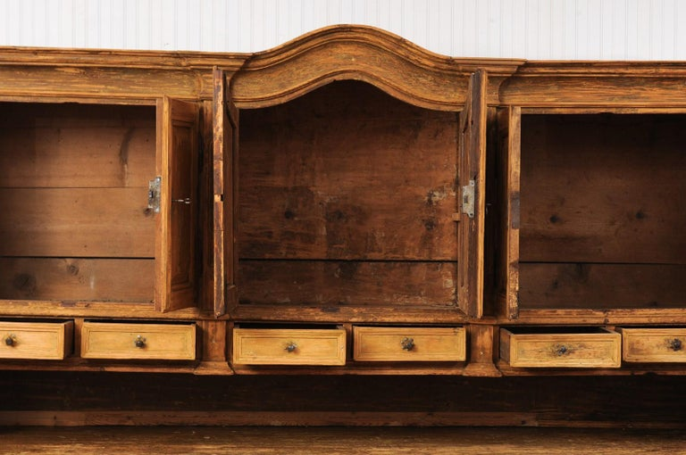 Large Late 18th Century French Buffet à Deux-Corps from a Monastery Near Avignon For Sale 3
