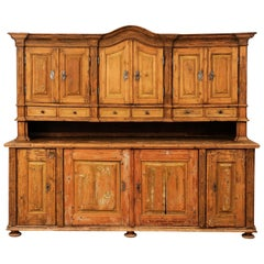 Large Late 18th Century French Buffet à Deux-Corps from a Monastery Near Avignon