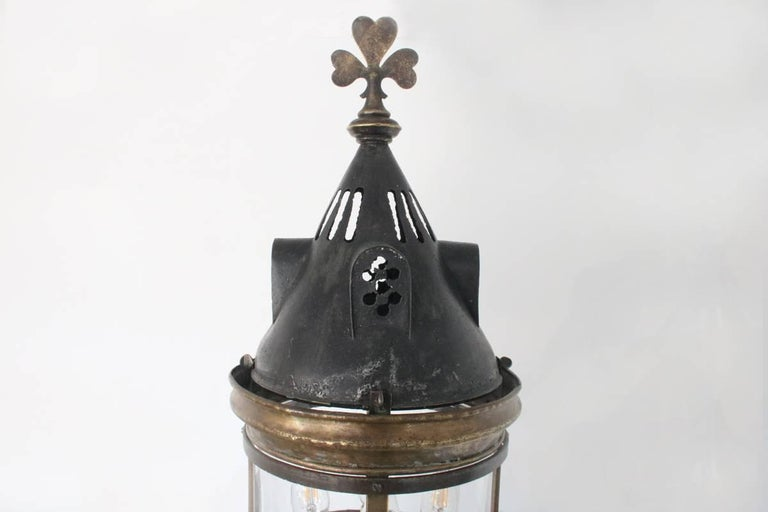 English Large Late 19th Century Arts & Crafts Wall Lantern For Sale