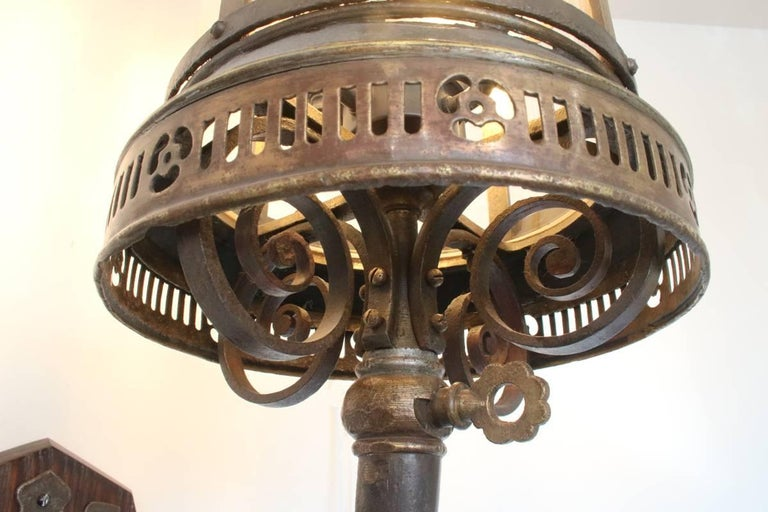 Large Late 19th Century Arts & Crafts Wall Lantern For Sale 2