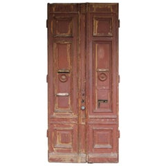 Large Late 19th Century German Double Door with Nice Patina