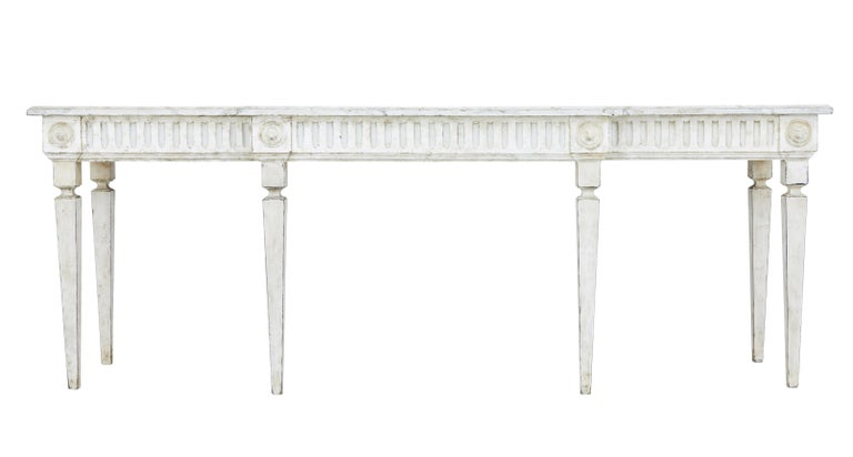 Large Late 19th Century Painted Console Table 2
