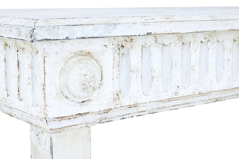 Large Late 19th Century Painted Console Table 3