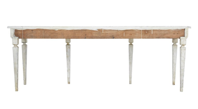Large Late 19th Century Painted Console Table 4