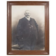 Large Late 19th/Early 20th C. German Gentleman Portrait Photograph c.1880-1920