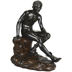 Late 19th Century Grand Tour Italian Bronze of Seated Hermes after the Antique