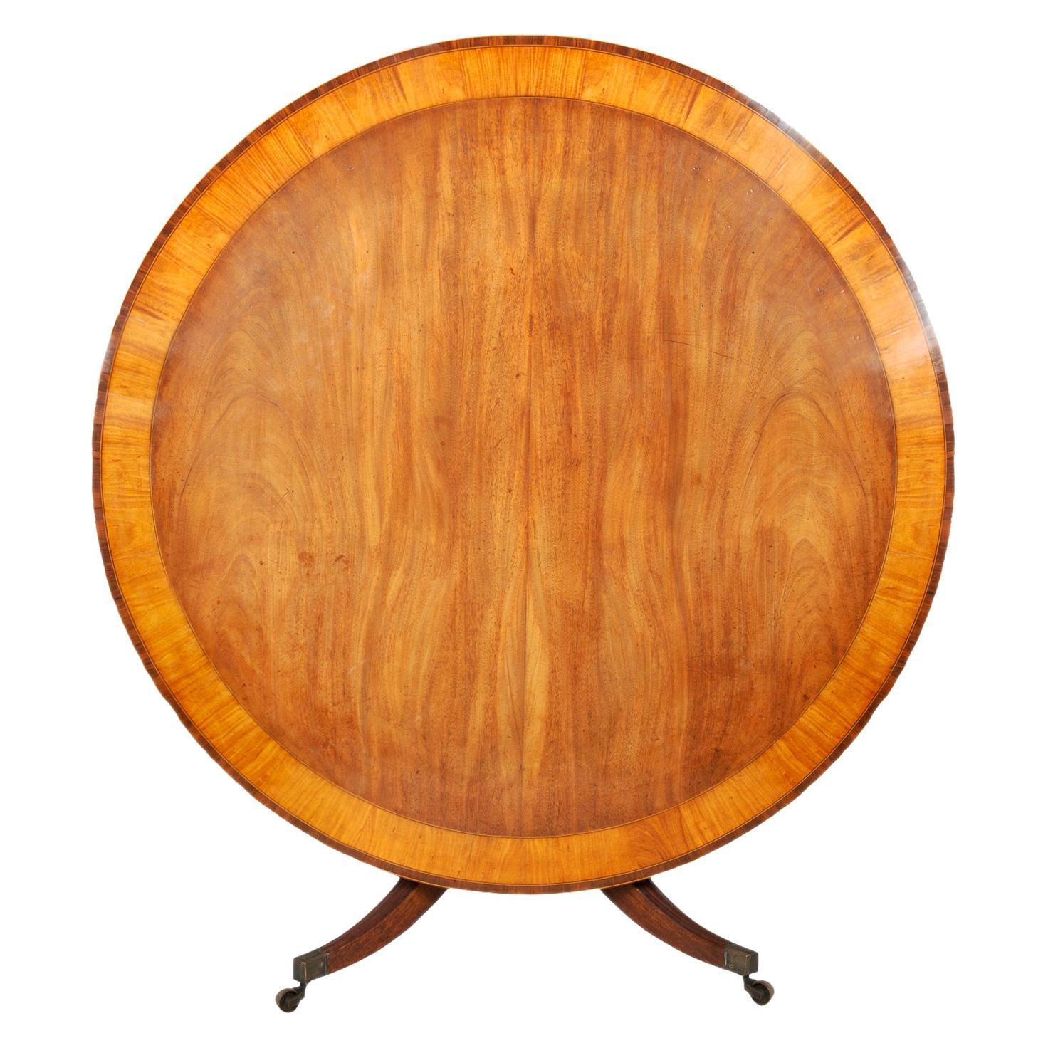 "Large Late Regency Period Mahogany Circular Dining Table 150cm(59"") diameter"