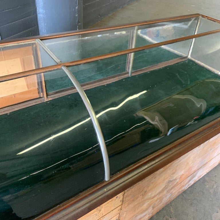 Large Late Victorian Shop Display Case, Museum, Collector's Cabinet For Sale 9
