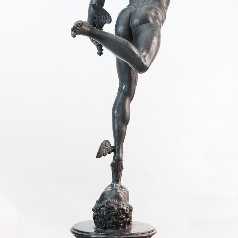 Large Late Victorian Spelter Figure of Mercury For Sale 4