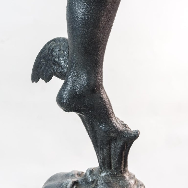 Large Late Victorian Spelter Figure of Mercury For Sale 5