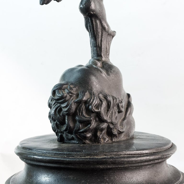 British Large Late Victorian Spelter Figure of Mercury For Sale