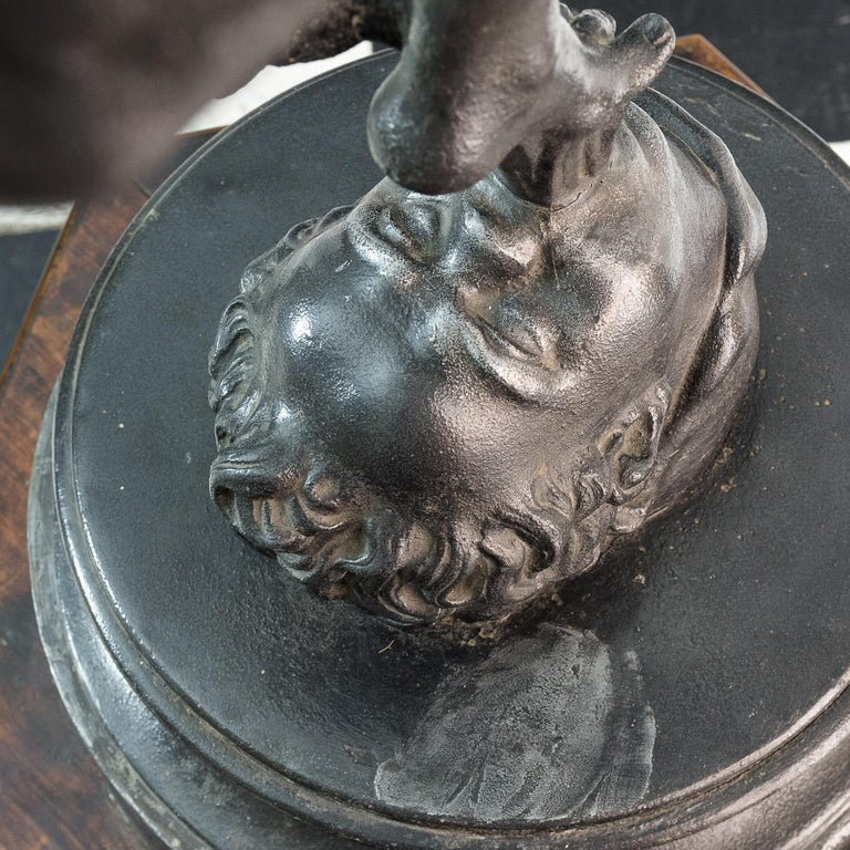 Large Late Victorian Spelter Figure of Mercury In Good Condition For Sale In London, GB