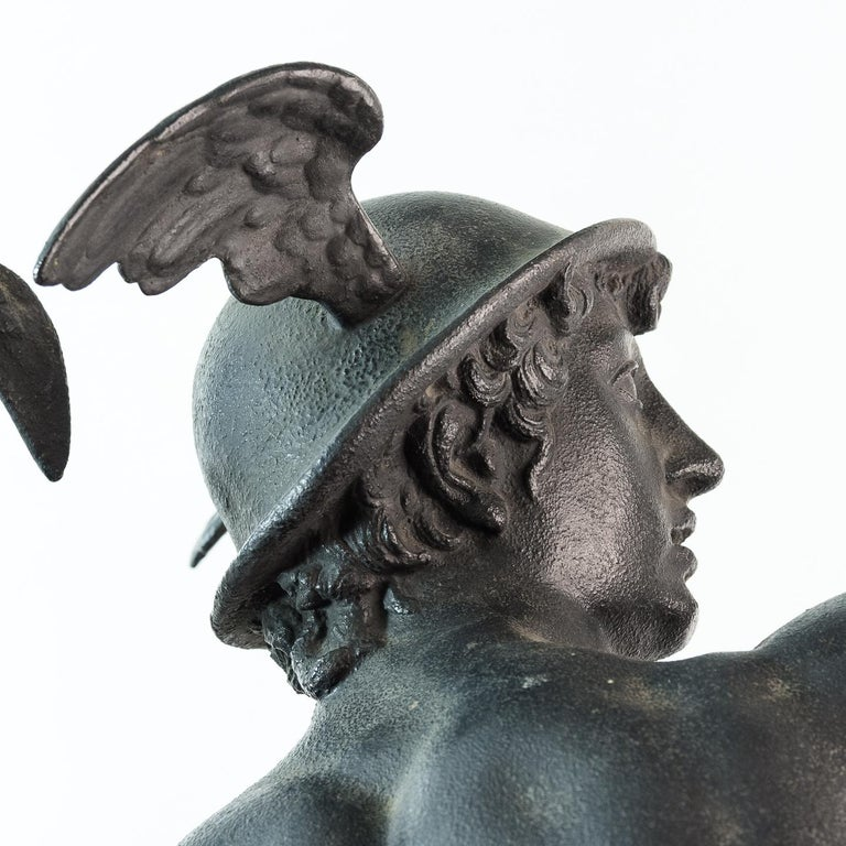Late 19th Century Large Late Victorian Spelter Figure of Mercury For Sale