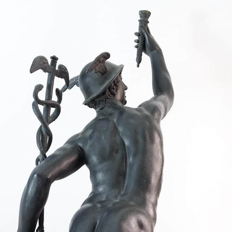 Large Late Victorian Spelter Figure of Mercury For Sale 1