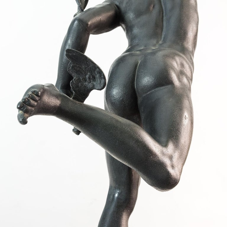 Large Late Victorian Spelter Figure of Mercury For Sale 2
