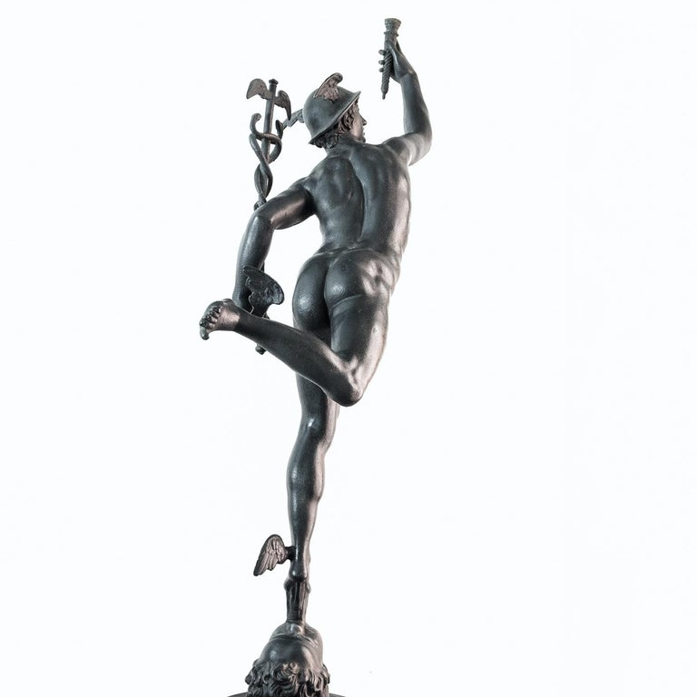Large Late Victorian Spelter Figure of Mercury For Sale 3